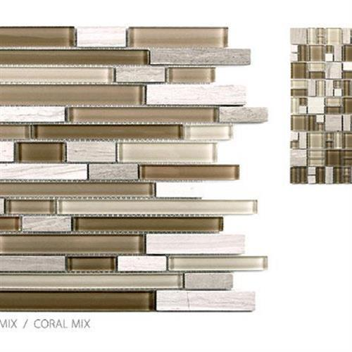 Stone  Glass Mixes Coral Mix - Mini Roman