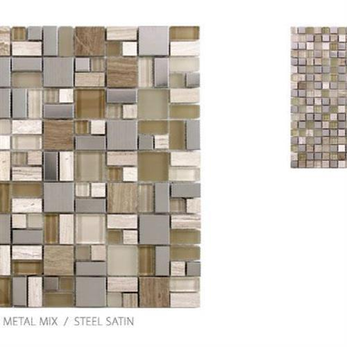 Stone Glass  Metal Micro Steel Satin - Mini Mosaic