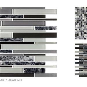 GlassTile GlassStone TSMDGGSAGABRK Agate-BrickMosaic