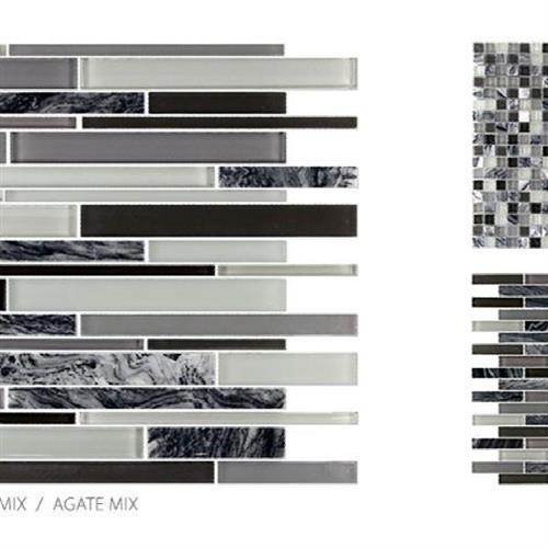 GlassTile Glass & Stone Agate - Brick Mosaic  main image