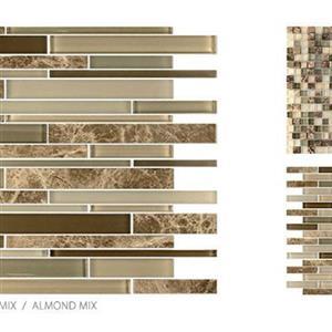 GlassTile GlassStone TSMDGGSALMMIX Almond-Mosaic