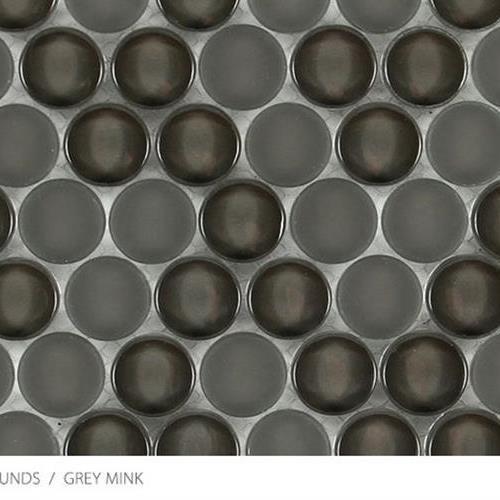 Translucent Penny Round Grey