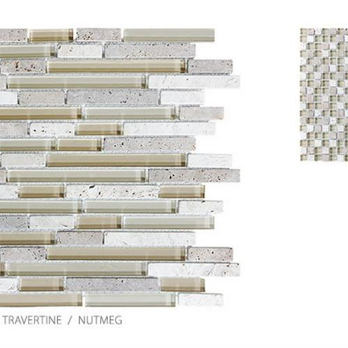Stone Glass Travertine Nutmeg