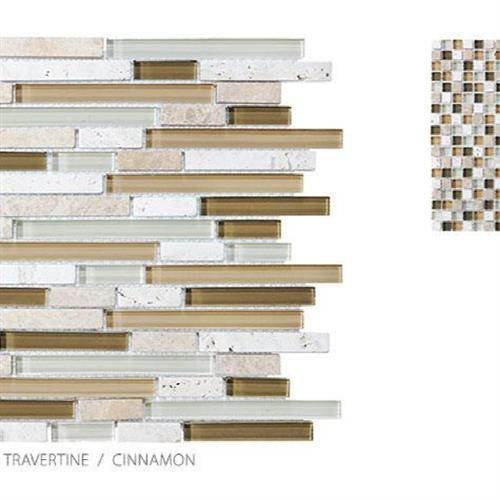 Stone Glass Travertine Cinnamon - Mosaic