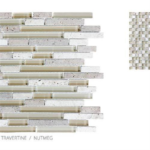Stone Glass Travertine Nutmeg - Random Strip