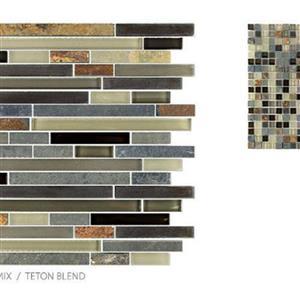 GlassTile GlassSlate TSMDGGS0GS09RM4 TetonBlend-Mosaic
