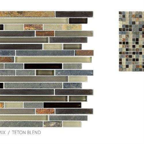 Glass  Slate Teton Blend - Strip