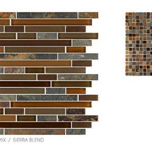 GlassTile GlassSlate TSMDGGS0GS10RM4 SierraBlend-Mosaic