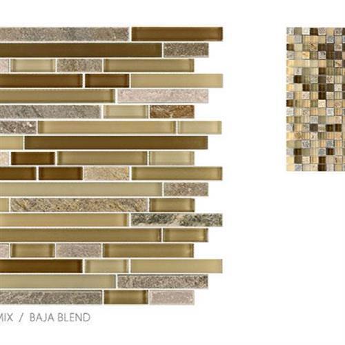 GlassTile Glass & Slate Baja Blend - Mosaic  main image