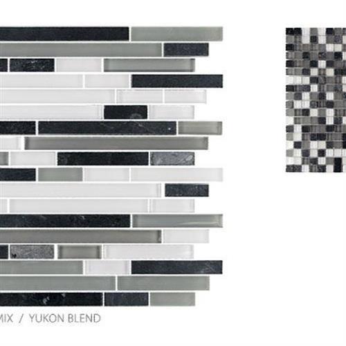 GlassTile Glass & Slate Yukon Blend - Strip  main image