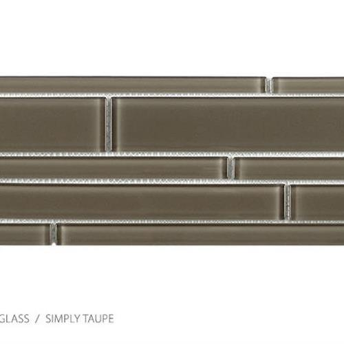 Translucent Clear Glass Simply Taupe