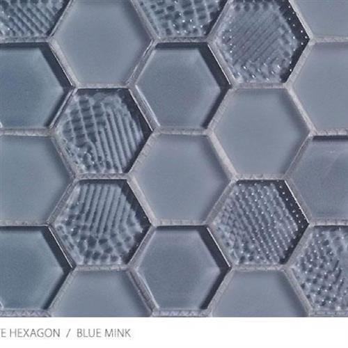Textured Gloss  Matte Hexagon Blue Mink