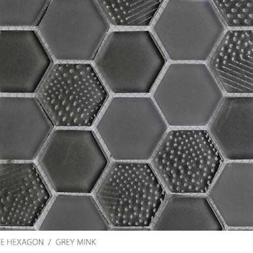Textured Gloss  Matte Hexagon Grey Mink