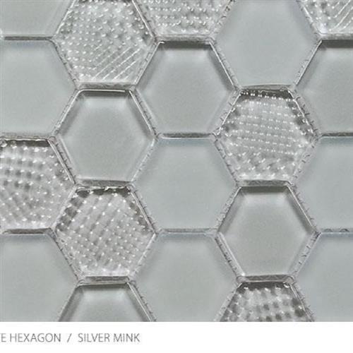 Textured Gloss  Matte Hexagon Silver Mink