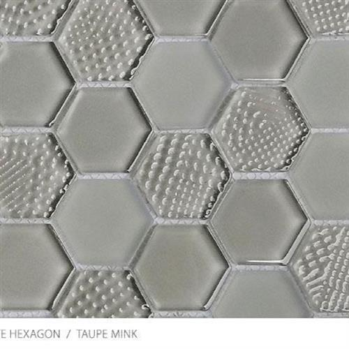 Textured Gloss  Matte Hexagon Taupe Mink