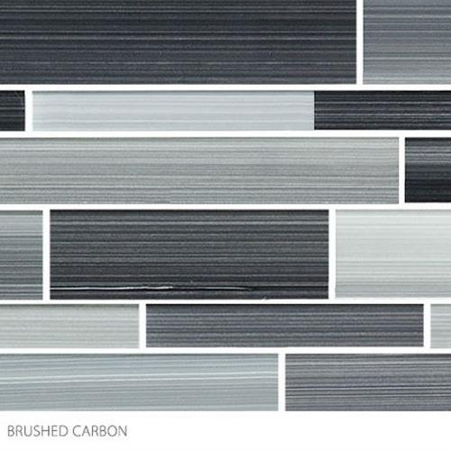 Translucent Fresco Glass Brushed Carbon