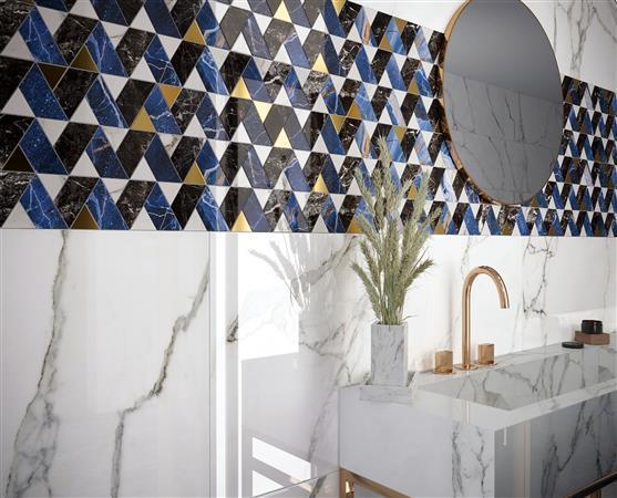 Elara Porcelain Blue Mood     Blue Mood Mosaic