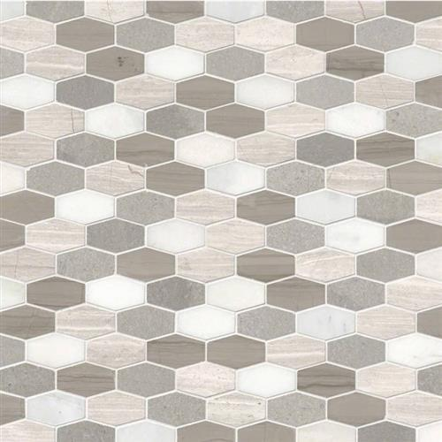 Specialty Shapes Tile Bellagio Blend Smot-BELBLND-HEXEL10MM