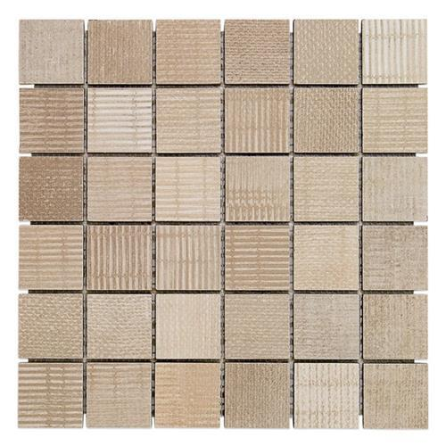 Organic Rug Sand 2X2 Mosaic