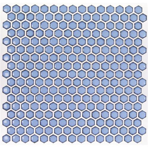 Simple Rimmed Hexagon Azure