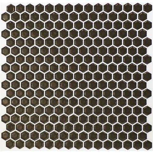 Simple Rimmed Hexagon Charcoal