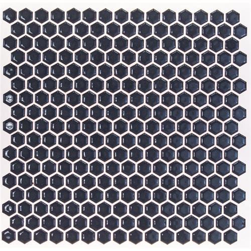 Simple Rimmed Hexagon Cobalt