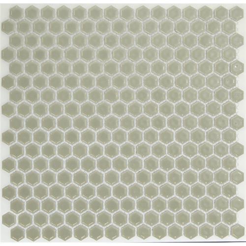 Simple Rimmed Hexagon Mist Gray