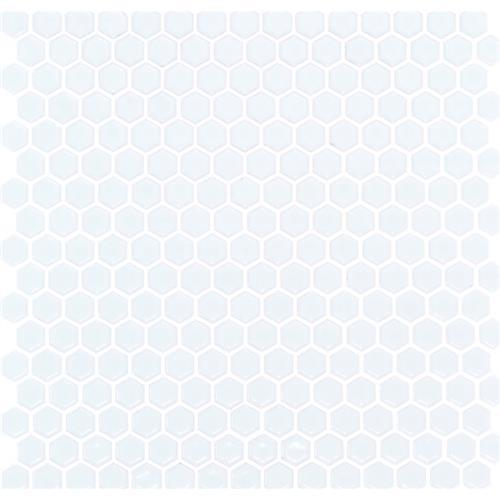 Simple Hexagon Solid Matte White