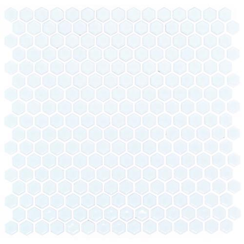 Simple Hexagon Solid Polished White While