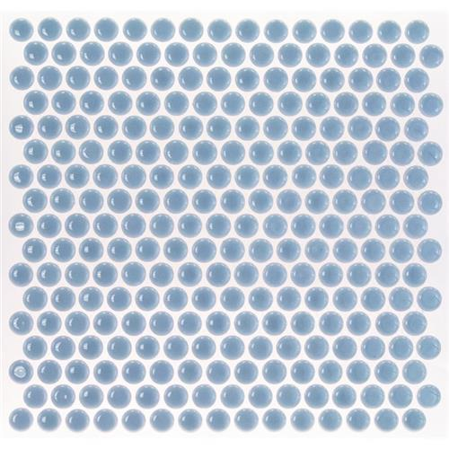 Simple Rimmed Penny Rounds Azure