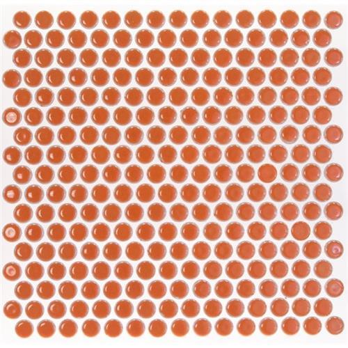 Simple Rimmed Penny Rounds Tangerine