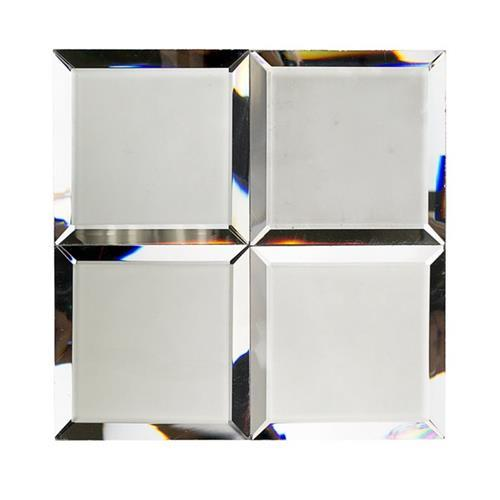 Mirror Glass Dark Gray 4X4 Frosted