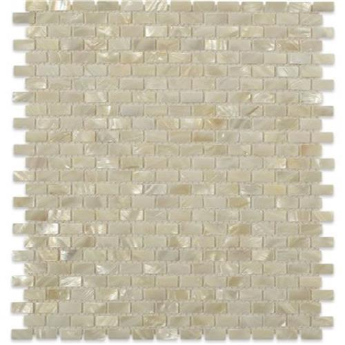 Pearl  White Flat Mini Brick