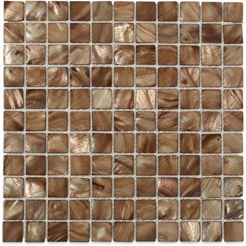 Pearl  Brown Shell Squares