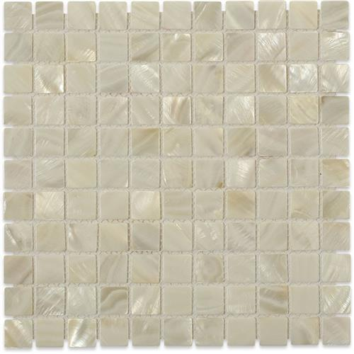 Pearl  White Flat Squares