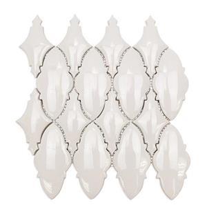 GlassTile Baroque BRQORNBLNC OrnateBlanco