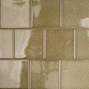 GlassTile Blends-ArtGlass ARTG4X4SMKFRN SmokyFern4x4
