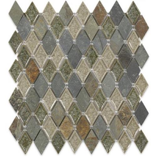Blends - Art Glass  Rustic Slate Diamond