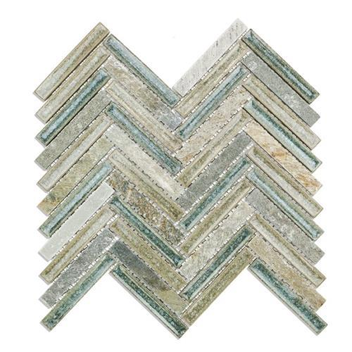 Blends - Art Glass  Herringbone Quartz Sea
