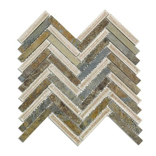 Blends - Art Glass  Herringbone Slate Fern