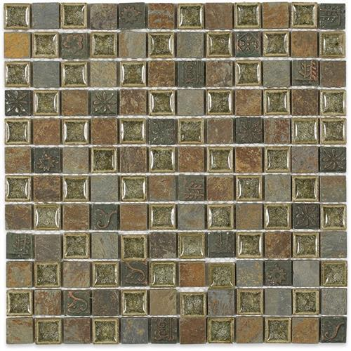 Blends - Art Glass  Rustic Slate With 1X1 Deco