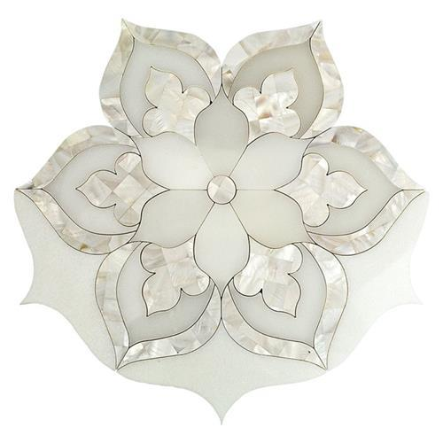 White Thassos   Royal White And Mother Of Pearl