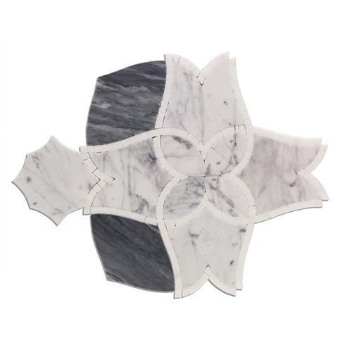 Alstromeria Series White Carrara Bardiglio Nuvelato And White Thassos