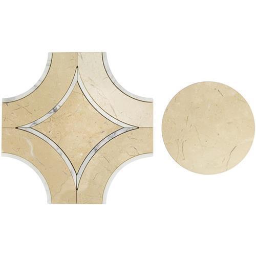 MJ Star 20 Crema With Calcutta Line And Crema Marfil Circle
