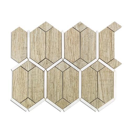 Wood Jet Prunus Gray Wood Look Porcelain W/ Asian Statuary Line