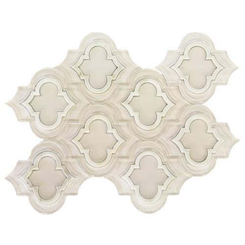 MJ Emblem Super White Polished Asian Statuary Line And Super White Frosted