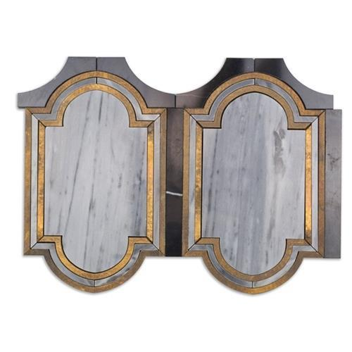 Ornato Series Messina- Bardiglio Brass And Black Jade