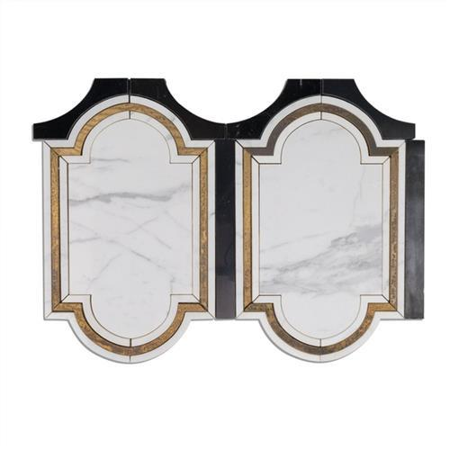 Ornato Series Pisac-Calacatta Brass And Black Jade