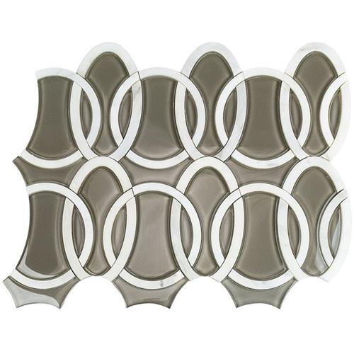 MJ Loom Asian Statuary  Taupe Glass