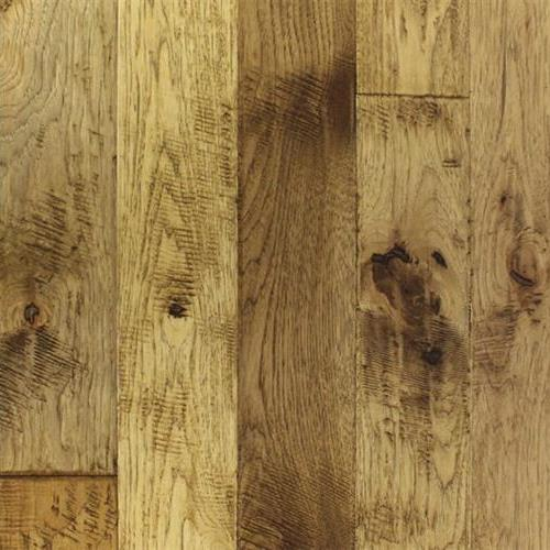 A close-up (swatch) photo of the Crestone Hickory flooring product